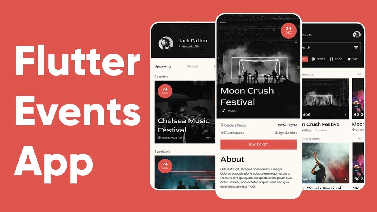 Flutter Events App UI | Speed Code