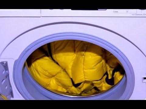 Как  Стирать  Пуховик | Стирка пуховика в стиральной машине - что будет если использовать мячики
