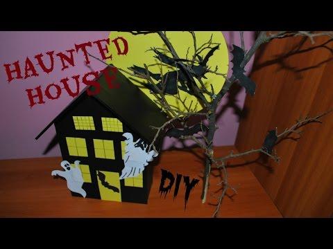 Halloween decor DIY: Haunted house