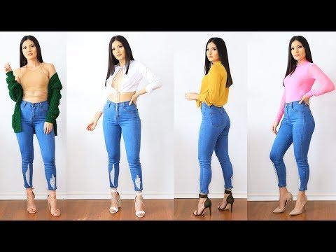Como Combinar Un Pantalon 👖 6 Outfits Casuales Con Jeans 🦄 Bessy Dressy