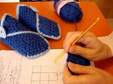 PANTUFLAS MEDIEVALES A CROCHET - YouTube