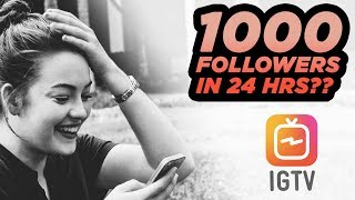 How To Gain 1000 Followers OVERNIGHT with IGTV 😱 | DevanOnTech