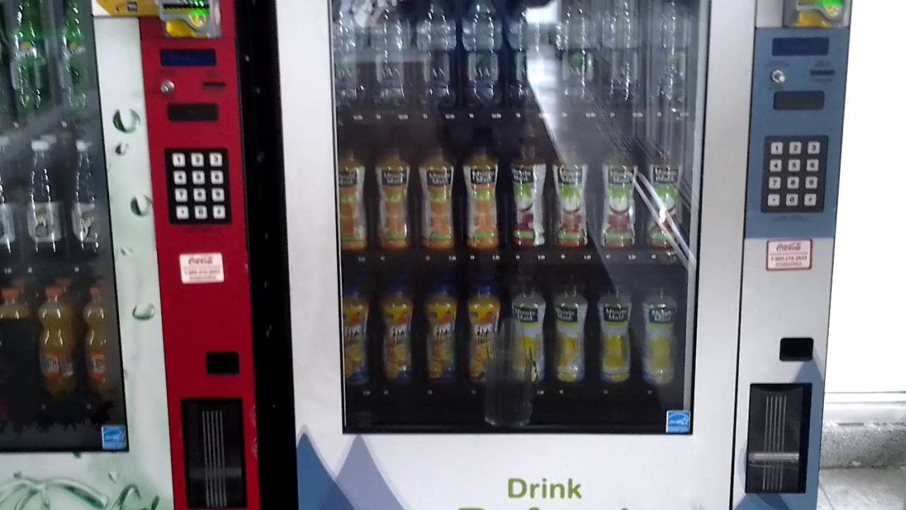 royal vison 500 glass front vending machine at the maple view