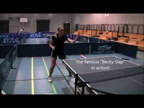 Perth Table Tennis Club - Newgy Robo-Pong 2050 vs Becky