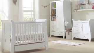 Tutti Bambini Katie Nursery Furniture In White & Espresso