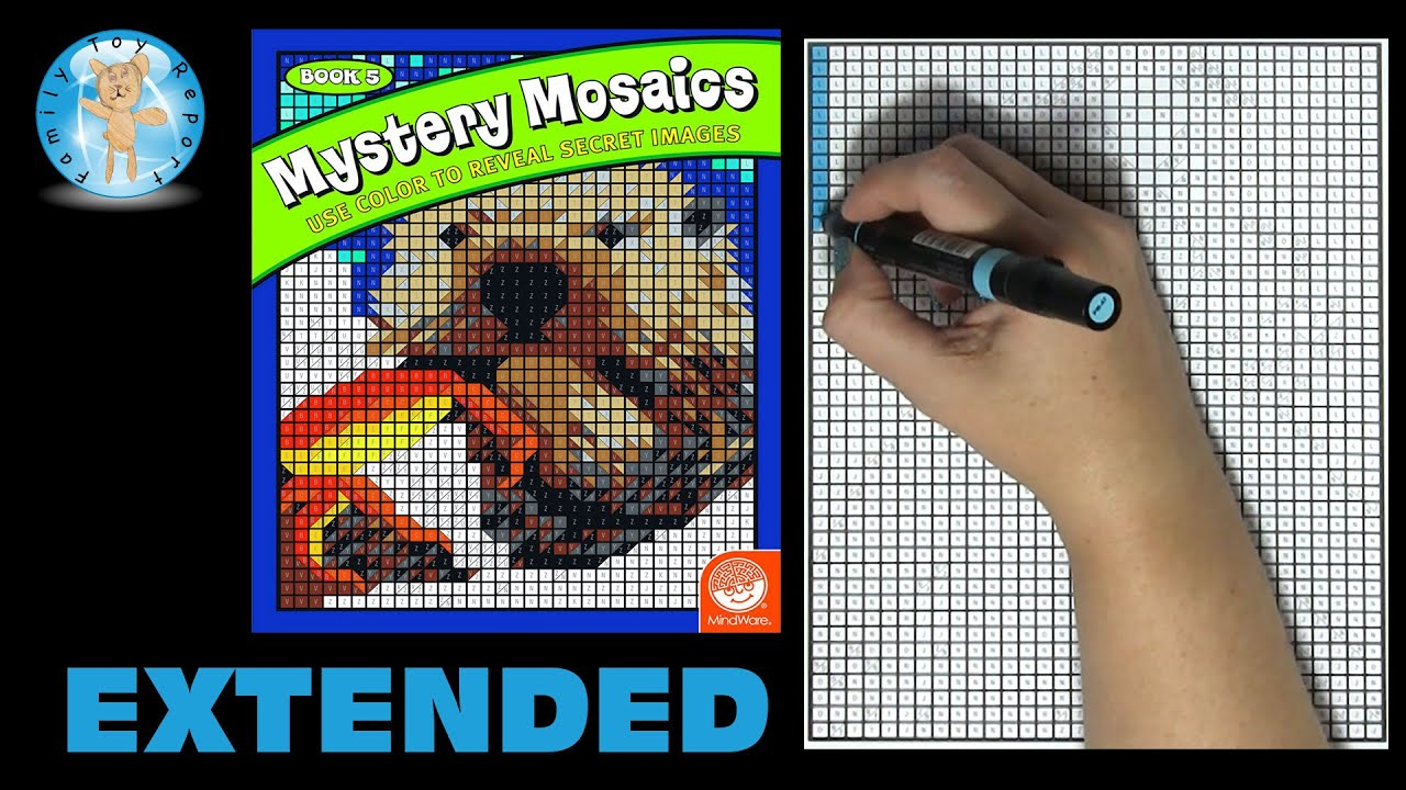 Mindware Mystery Mosaics Coloring Book Number 5 Speed Color ...