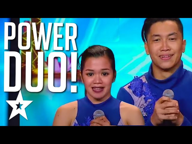 POWERFUL DANCE MOVES! Dance Couple POWER DUO All Auditions On Asia's Got Talent