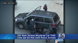 Mom Tackles Would-Be Car Thief, Holds Him Until Police Arrive