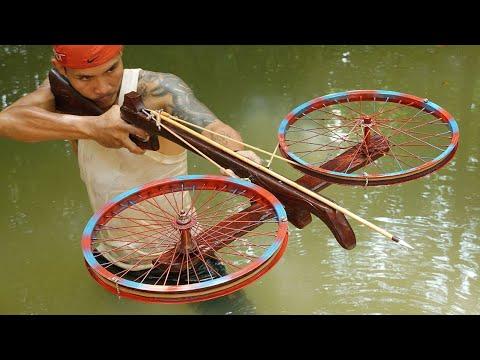 Como fazer uma besta de madeira com rodas duplas
