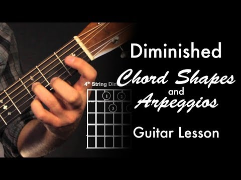 Diminished Chord Shapes & Arpeggios