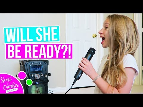 9 YEAR OLD SINGING NEVER ENOUGH FOR SCHOOL TALENT SHOW!!! AMAZING!! | Scott and Camber