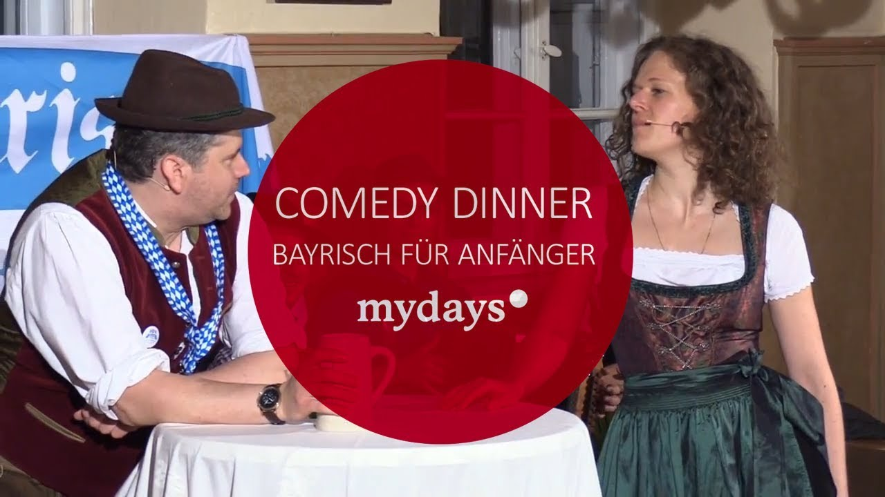 bayrisch f r anf nger comedy dinner in m nchen mydays. Black Bedroom Furniture Sets. Home Design Ideas