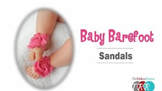 How to Make Baby Barefoot Sandals - TheRibbonRetreat.com