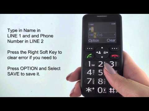 Jethro Senior Cell Phone SC118B Tutorial-Phonebook and Add Contact