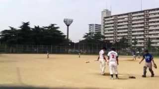 大阪上六バッファラーズ、HYODO捕手 1:16あたりから 関西最狂草野球団 ...