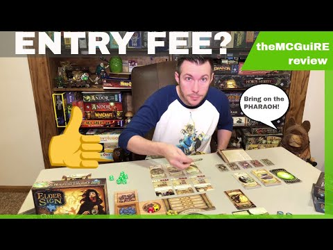 Elder Sign OMENS OF THE PHARAOH Board Game expansion review