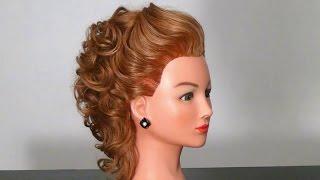 Вечерняя прическа на среднюю длину волос