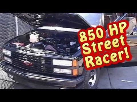 Street Test 850 HP 632 BBC Warrior Chevy Truck.  Tears up the Streets!  Nelson Racing Engines.  NRE.