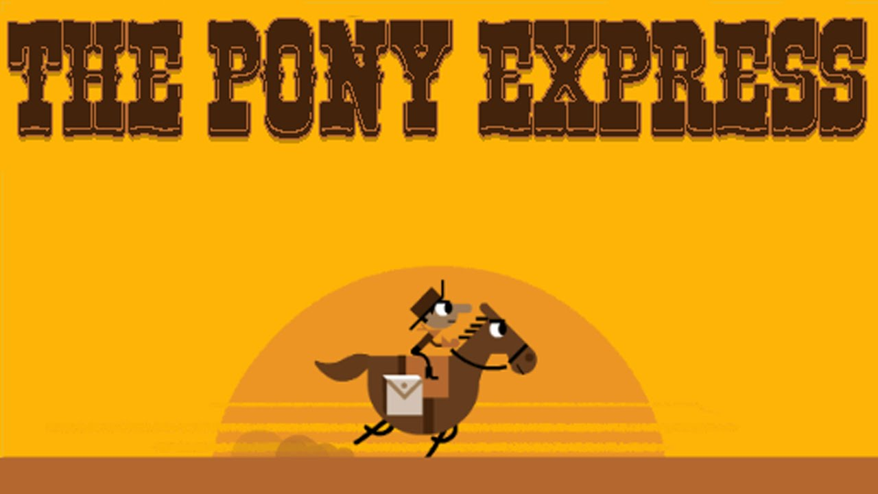 Google Doodle Game 155th Anniversary Of The Pony Express