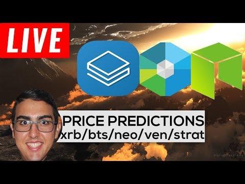 Price Predictions: RaiBlocks ($XRB), BitShares ($BTS), NEO ($NEO), Vechain ($VEN), Stratis ($STRAT)!