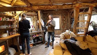 A Day Living Off Grid In A Cabin In The Woods