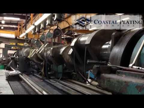 Clark TCVC-20M Industrial Crankshaft Repair - Chrome Plating
