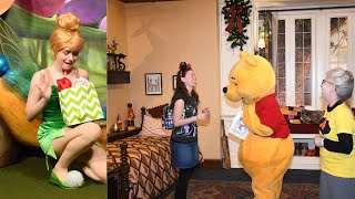 Gifts on Christmas Day at Disney World. Tinker Bell Cries, Pooh is overwhelmed. Watch until the End!