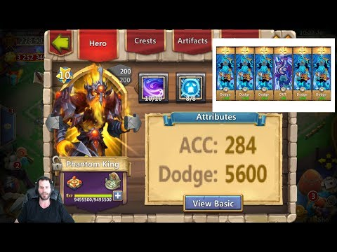 Phantom King 5000+ DODGE In Battle HARD TO TAKE OUT! Castle Clash
