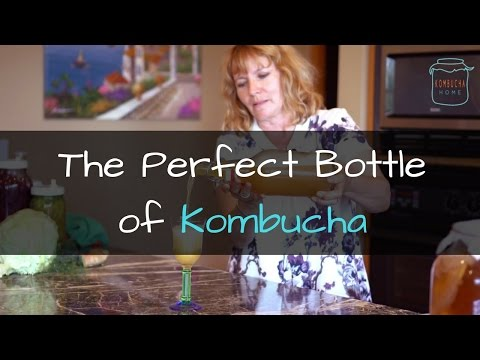Fresh Bottle Of My Homemade Kombucha - Amazing Fizz!