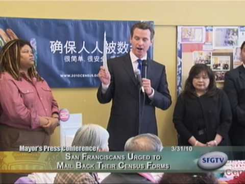 Newsom Urges San Franciscans to Participate in 2010 Census