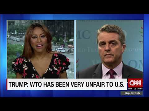 WTO boss responds to Trump's threats