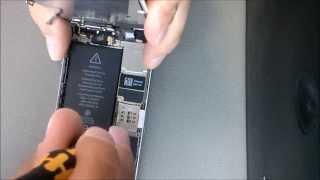 Замена динамика на iPhone 5S за 5 минут.