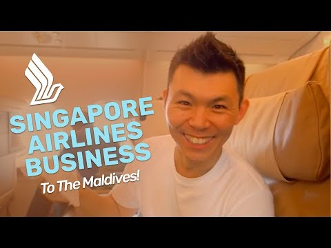 Flying to The Maldives in Singapore Airlines Business Class