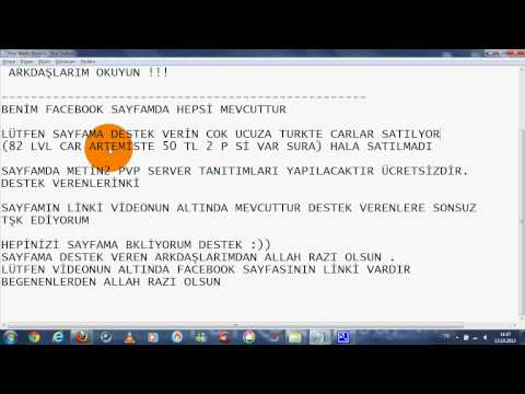Metin2 Ücretsiz PvP reklamı YAPILIR GM ARIYORUM İZLE ..
