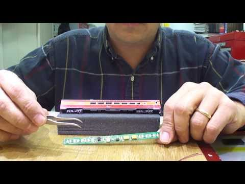 www.SBS4DCC.com – N Scale Kato Passenger Car Light Kit Installation Demonstration