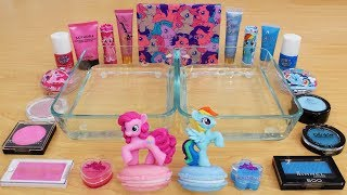 Pink vs Blue - Mixing Makeup Eyeshadow Into Slime Special Series 162 Satisfying Slime Video