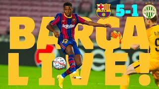 THE CHAMPIONS LEAGUE IS BACK! | Barça Live | Barça - Ferencvárosi | Match Center