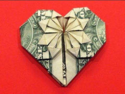 Origami Dollar Heart & Star Tutorial - How To Make A Dollar Heart With Star