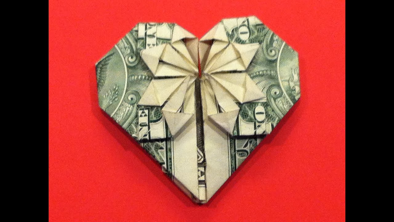 Origami Dollar Heart & Star Tutorial - How to make a ... - photo#5