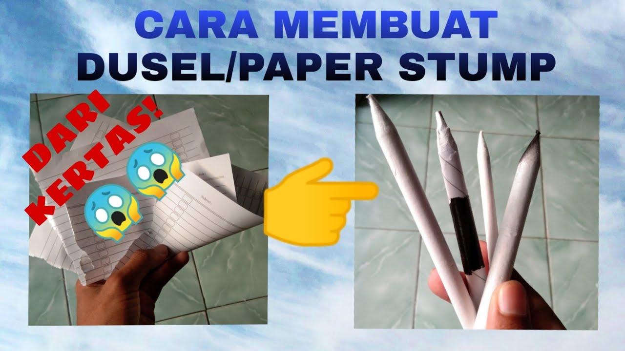 Download CARA MEMBUAT DUSEL PAPER STUMP Dari Kertas Koran