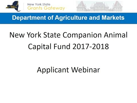 NYS Companion Animal Capital Fund Applications