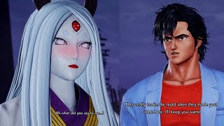 Ryo Saeba Flirts with Kaguya!JUMP FORCE: Easter Eggs KAGUYA All Special Funny Interactions & Quotes