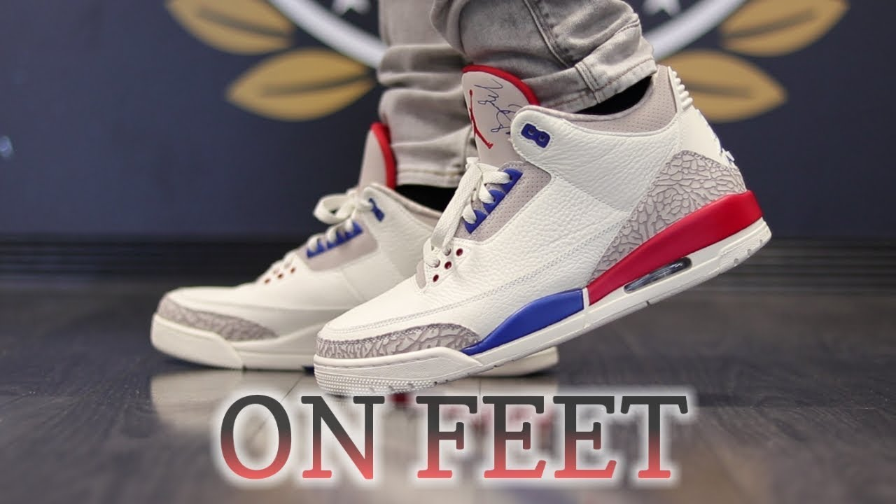 363024d82217b2 AIR JORDAN 3 INTERNATIONAL FLIGHT ON FEET - YouTube