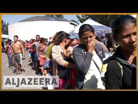 🇲🇽 Migrant caravan arrives in Mexico City en route to US border   Al Jazeera English
