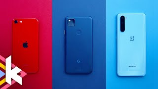 iPhone SE vs Pixel 4a vs OnePlus Nord - Was ist das Beste?