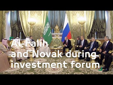 Al-Falih and Novak during investment forum
