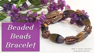 How To Make a Beaded Beads Bracelet-Bead & Jewelry Tutorial