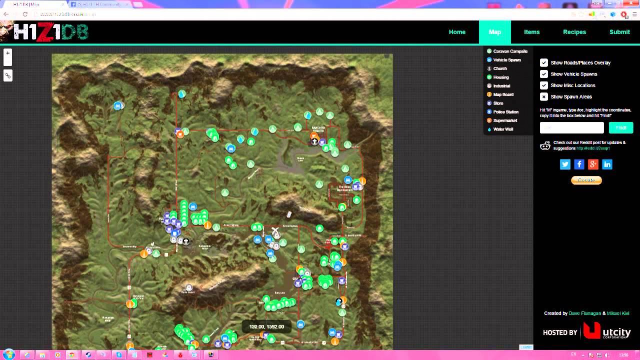 H1Z1 # 2 วิธีดูพิกัดและดูแมพ ( Coordinates&Map )