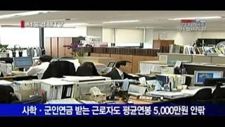 공무원연금 받는 근로소득자 1만여 명