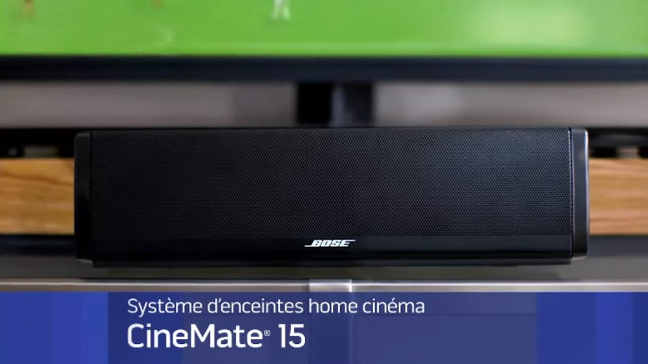 pr sentation syst me audio 1 1 bose cinemate 15 youtube. Black Bedroom Furniture Sets. Home Design Ideas